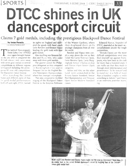 June 5, 2008 - DTCC Shines in UK Dancesport circuit
