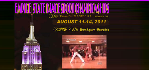 Results from 2001 Empire State Dancesport Championship  Aug 11 &#8211; 14