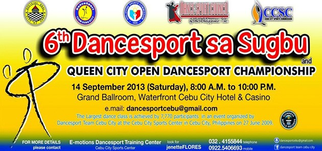 6th Dancesport sa Sugbu Now Accepting Entries